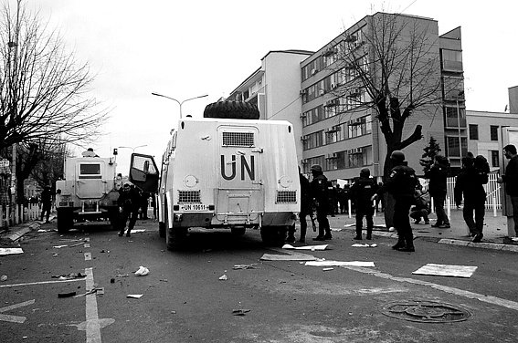 protest- february 07 - Kosovo -UNaccreditation