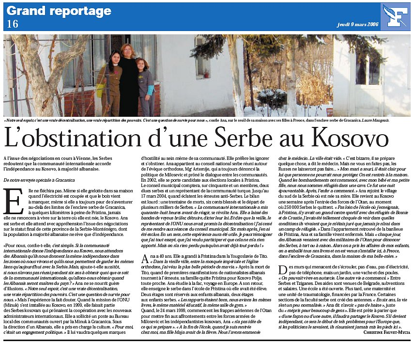 Family Portrait - Kosovo- LeFigaro